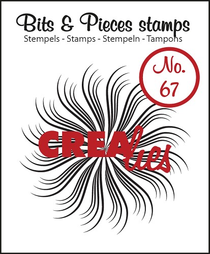 Bits & Pieces stempel/stamp no. 67 Circle of swirls B