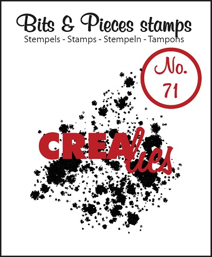 Bits & Pieces stempel/stamp no. 71 Ink splashes bold