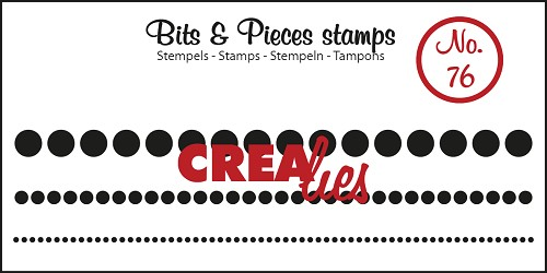 Bits & Pieces stempel/stamp no. 76 Dots in a row, 3 sizes