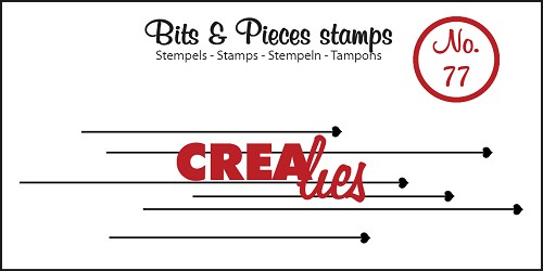 Bits & Pieces stempel/stamp no. 77 Hanging hearts
