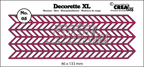 Decorette XL die no. 05, Chevron