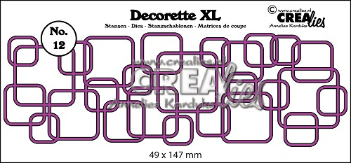 Decorette XL die no. 12, Interlocking squares