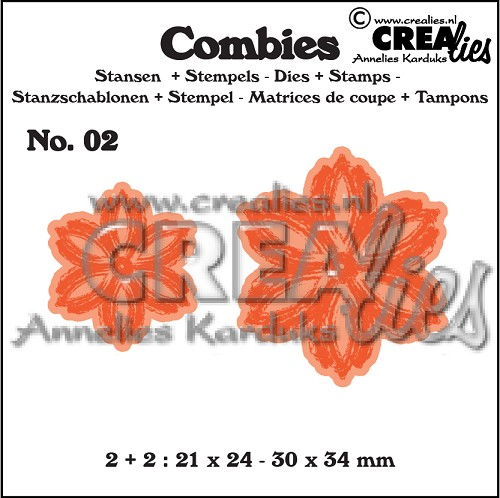 Combies dies+stamps no. 02, Flowers B