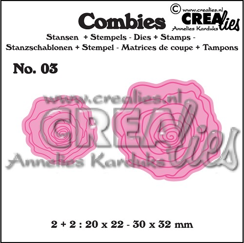 Combies dies+stamps no. 03, Roses small