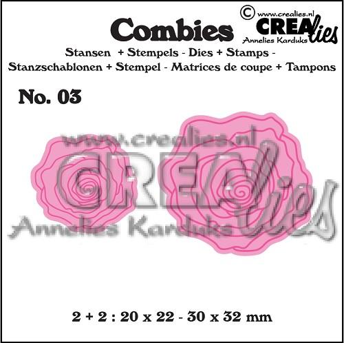 Combies stansen+stempels no. 03, Rozen klein