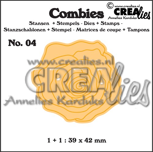 Combies stans+stempel no. 04, Roos