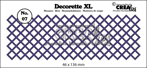 Decorette XL die no. 07, squares diagonal