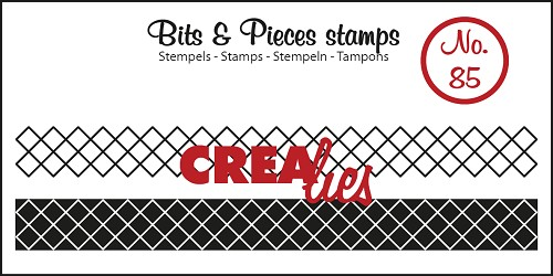 Bits & Pieces stempel no. 85 ribbon crosses
