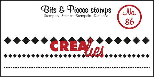 Bits & Pieces stamp no. 86 3x squares in a row