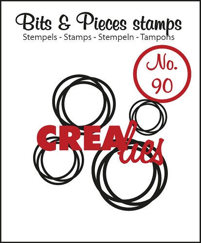 Bits & Pieces stamp no. 90 4x intertwined circles