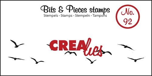 Bits & Pieces stempel no. 92, Vogels in de lucht, medium