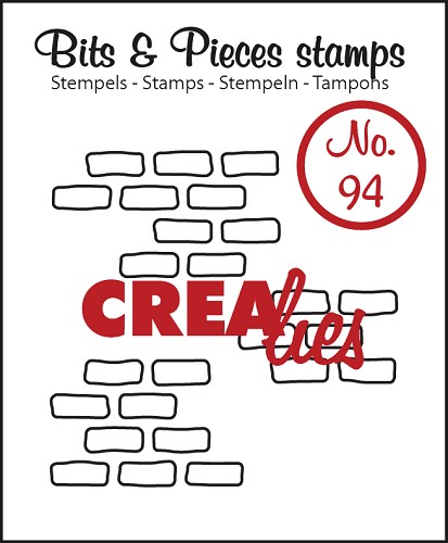 Bits & Pieces stamp no. 94 3x open bricks medium