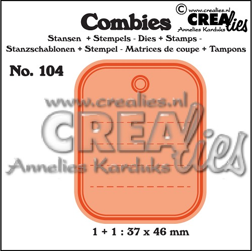Combies die+stamp no. 104, Tag A