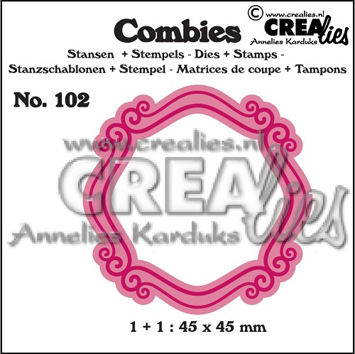 Combies dies+stamp no. 102, Frame B