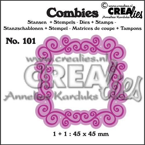 Combies dies+stamp no. 101, Frame A
