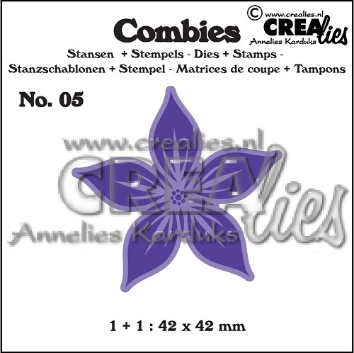 Combies die+stamp no. 05, Flower A large