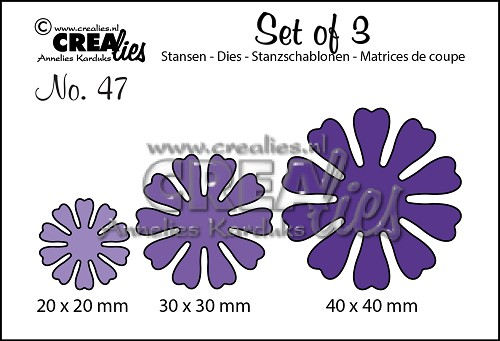 Set of 3 stansen no. 47, Bloemen 19