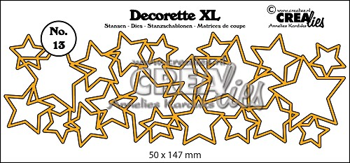 Decorette XL die no. 13, Interlocking stars