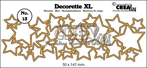 Decorette XL stans no. 13, In elkaar grijpende sterren
