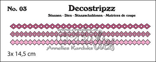 Decostripzz stans no. 03, Vierkantjes en wybers