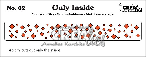 Only Inside stans/die no. 2, Vierkantjes / Squares