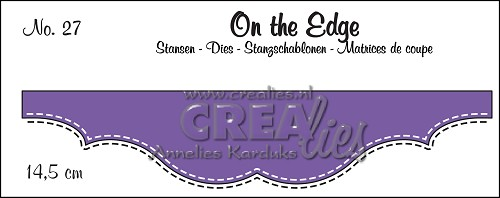 On the Edge stans/die no. 27, Met dubbele stiksteeklijn/With double stitch line