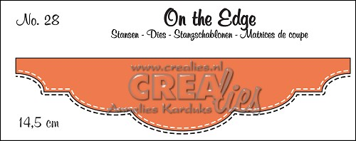 On the Edge stans/die no. 28, Met dubbele stiksteeklijn/With double stitch line