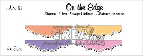 On the Edge stansen/dies no. 31, Mini 3, Met dubbele stiksteeklijn/With double stitch line
