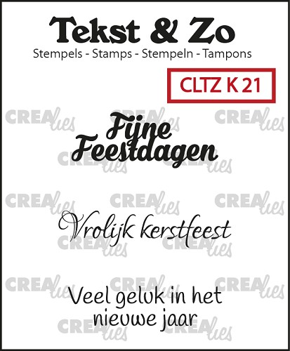 Tekst & Co stamps Christmass 21