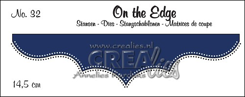 On the Edge stans/die no. 32, Met dubbele stippen/With double dots
