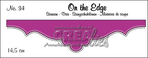 On the Edge stans/die no. 34, Met dubbele stippen/With double dots