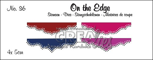 On the Edge stansen/dies no. 36, Mini 4, Met dubbele stippen/With double dots