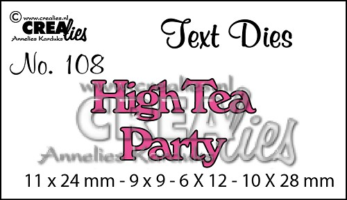 Text Die no. 108 High Tea Party