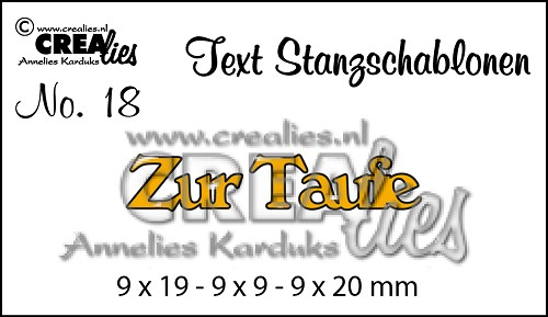 Text Stanzschablonen no. 18 Zur Taufe
