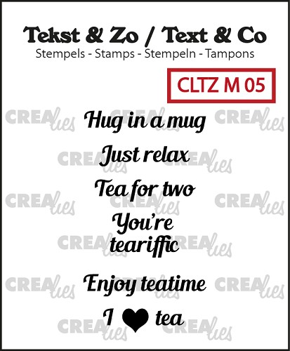 Text & co stamps, Tiny text no. 5, tea B (ENG)