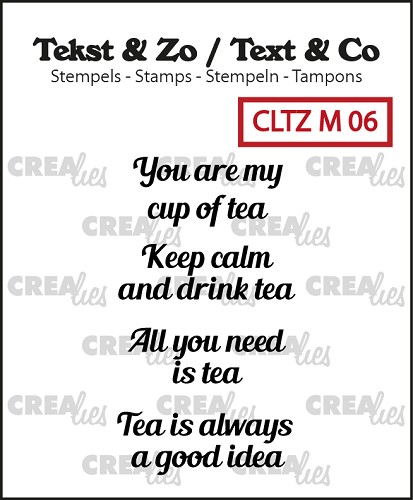 Tekst & Zo stempels, Tiny text no. 6, tea C (ENG)