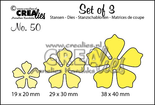 Set of 3 stansen no. 50, Bloemen 21