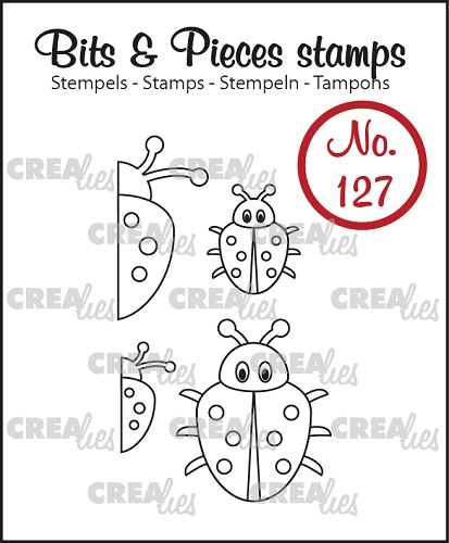 Bits & Pieces stempel no. 127, 4x Lieveheersbeestje