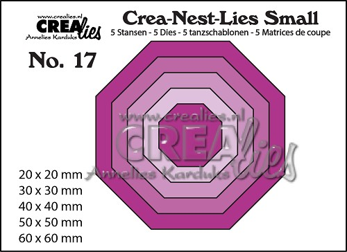 Crea-Nest-Lies Small stansen no. 17, 5x achthoek