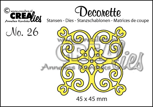 Decorette stans no. 26, Tegel A