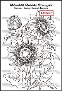 Mounted Rubber Stampzz no. 7, Sunflower