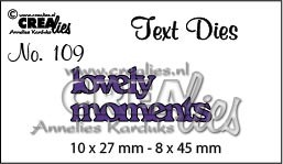Text Die no. 109 lovely moments
