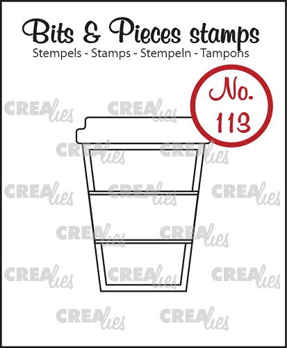 Bits & Pieces stempel no. 113, Koffie om mee te nemen