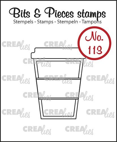 Bits & Pieces stempel/stamp no. 113, Koffie om mee te nemen / Mug to go