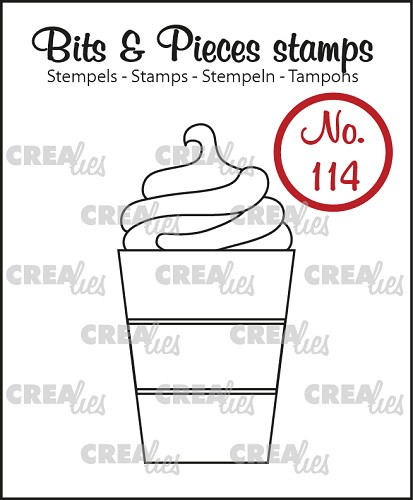 Bits & Pieces stempel no. 114, Warme chocolademelk
