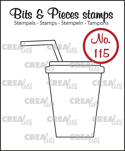Bits & Pieces stempel/stamp no. 115, Softdrink/milkshake