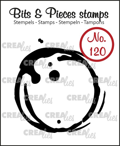 Bits & Pieces stamp no. 120, Coffee stain large