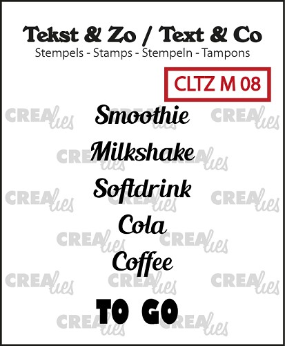 Tekst & Zo stempels Tiny text no. 8, To go