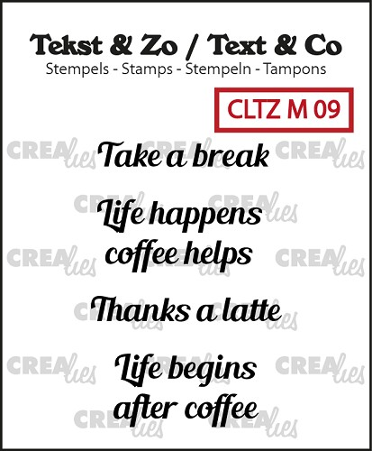 Tekst & Zo stempels, Tiny text no. 9, Take a break