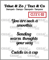 Text & Co English stamps no. 2, Warm drinks B